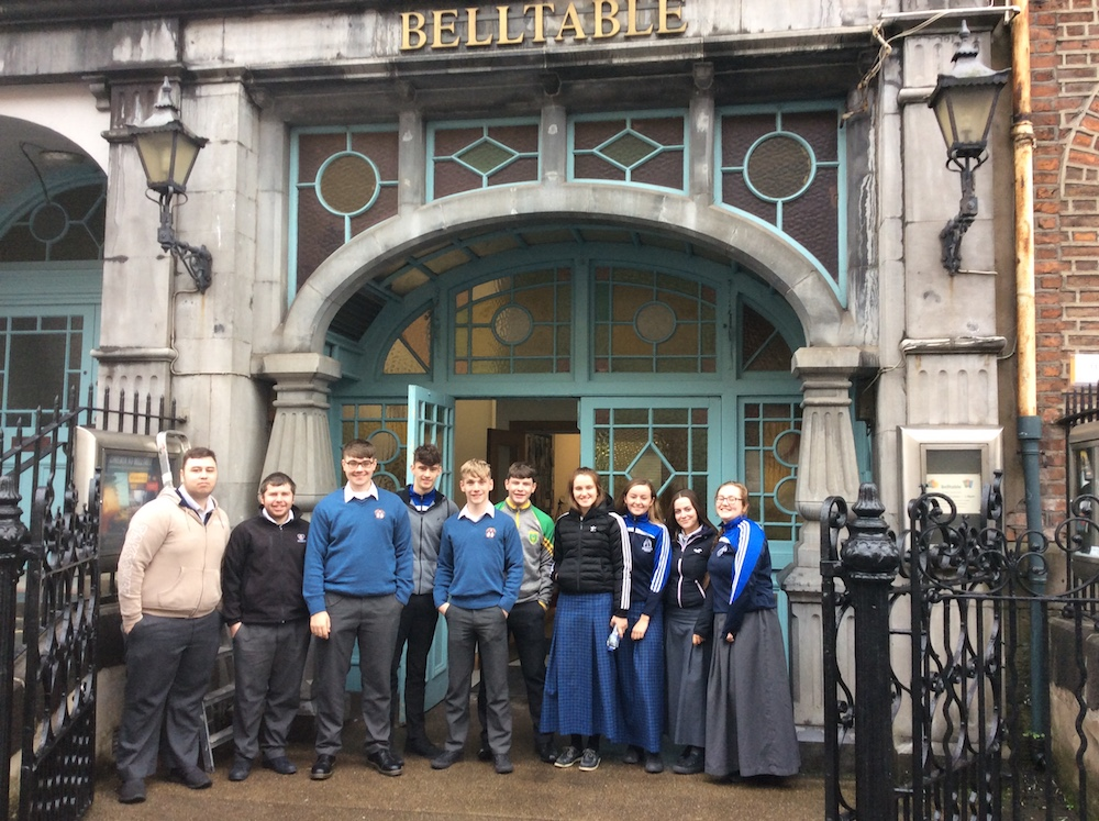 Oct 2018: Leaving Certificate students attend An Triail in the Belltable Limerick