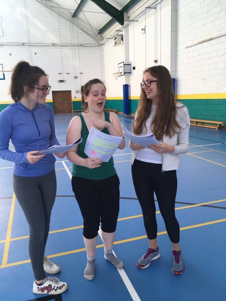 Oct 2018: Desmond College and Gaelcholaiste students prepare for the ABBA musical Thank you for the Music!