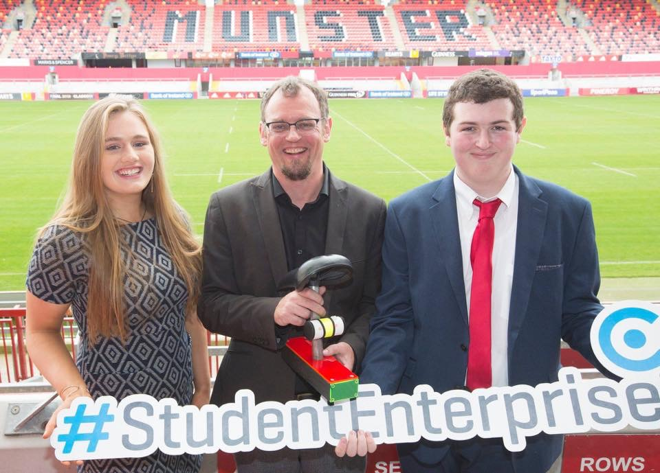 Oct 2018: Desmond College 2018 Senior winners attend the launch of the 2019 Limerick Student Enterprise awards