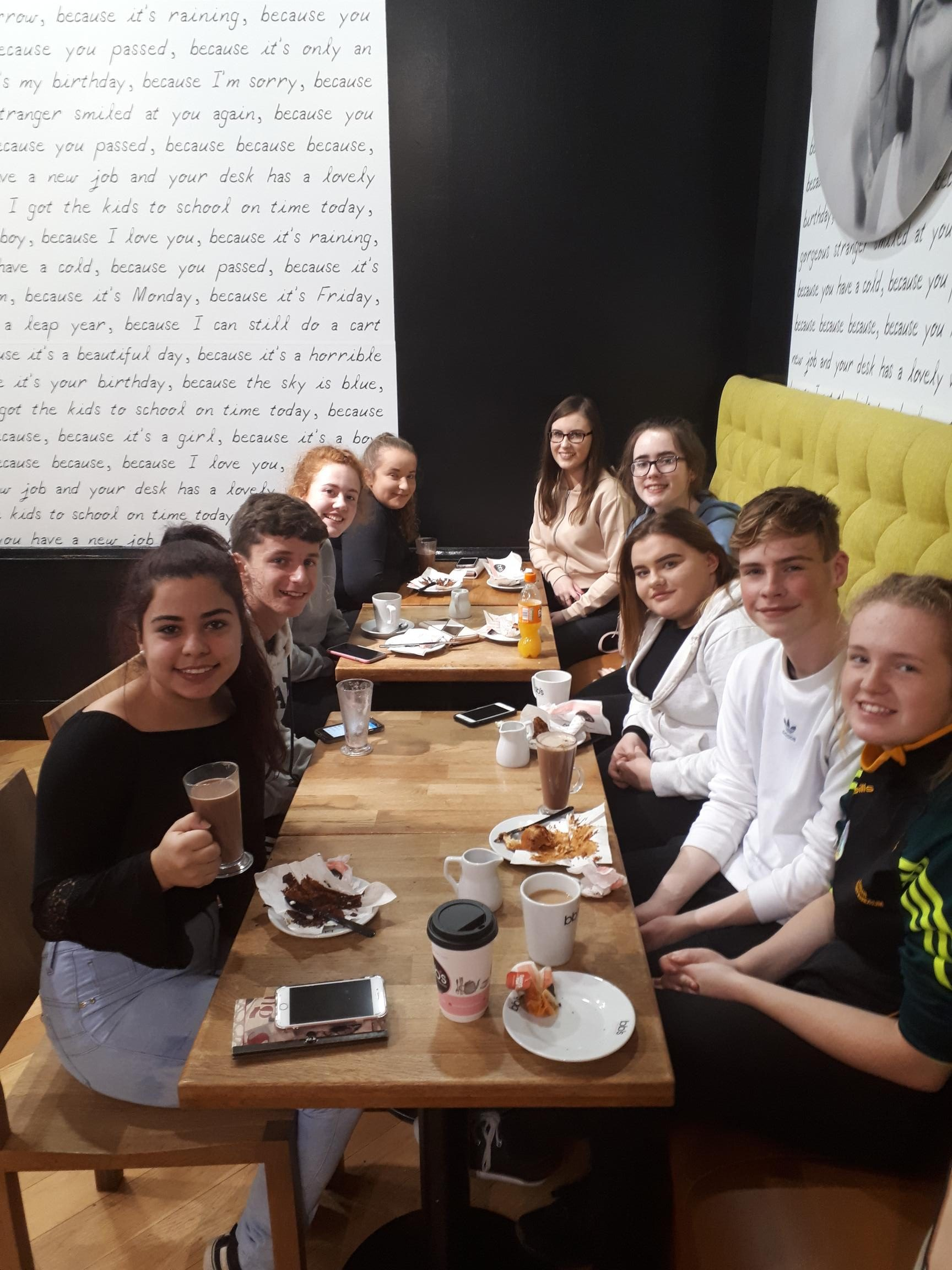 Oct 2018: TY Students enjoying a treat after the dance