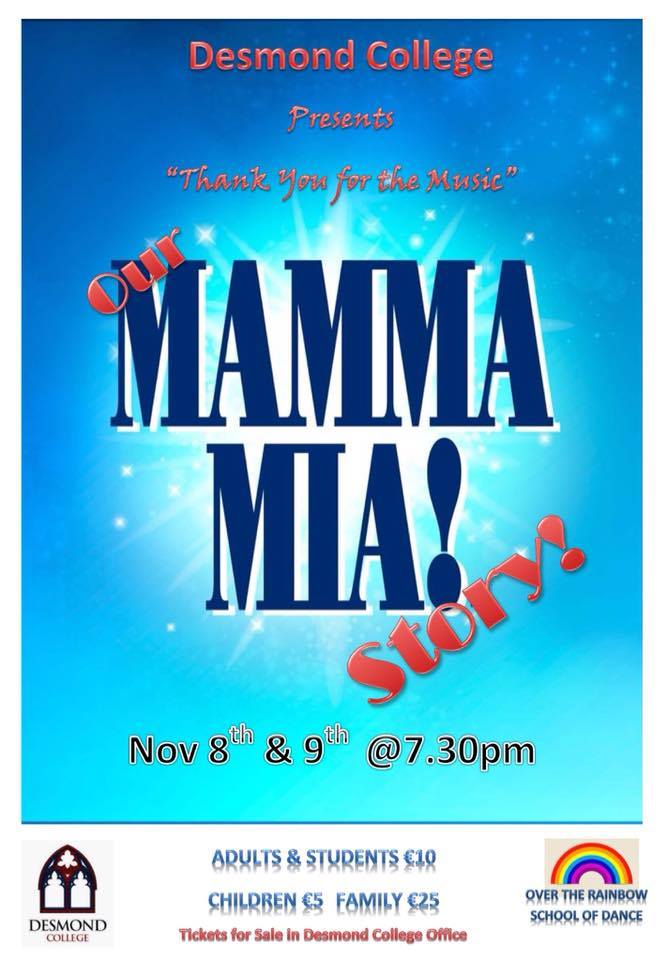 Desmond College Musical 2018: Thank you for the Music! Our Mamma Mia! Story.