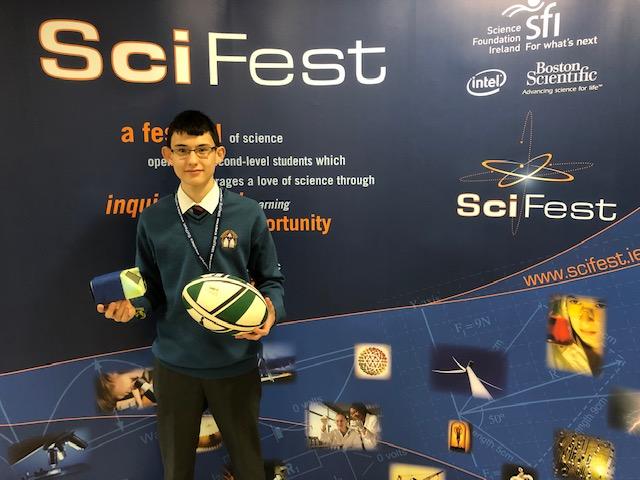 Nov 2018: Ronan Mullane picks up STEM award at national finals of SciFest 2018