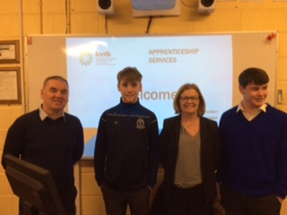 Nov 2018: Liam Callanan and Michéal Murphy from Desmond College enjoyed an enlightening and informative talk from LCETB about apprentices and traineeship opportunities for leaving certificate students