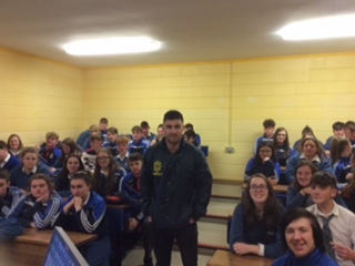 Nov 2018: Damian Quaid spoke to students of Desmond college about careers within the Gardai Síochàna