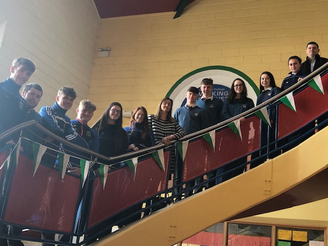 Nov 2018: Some  of the science students in Desmond College enjoying a talk about the science courses on offer in the Institute of Technology Tralee