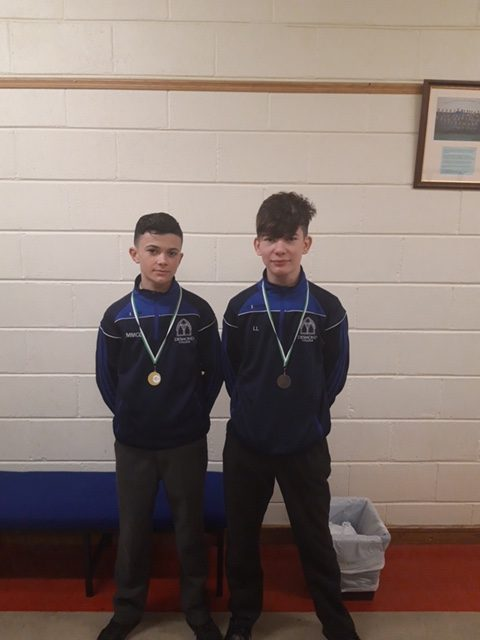 December 2018: Martin McDonagh and Leon Lenihan winners at the LCETB Bouldering Competition