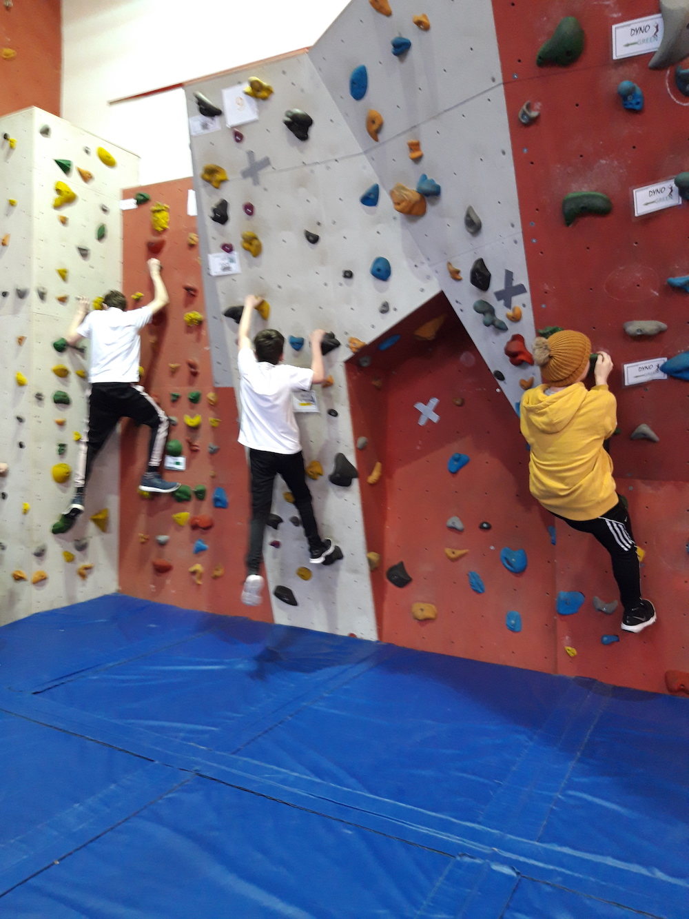 Nov 2018: Some of Desmond College First Year students taking part in the LCETB schools bouldering competition