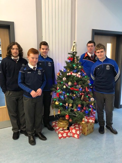 Students in Rang Grandin getting into the festive spirit