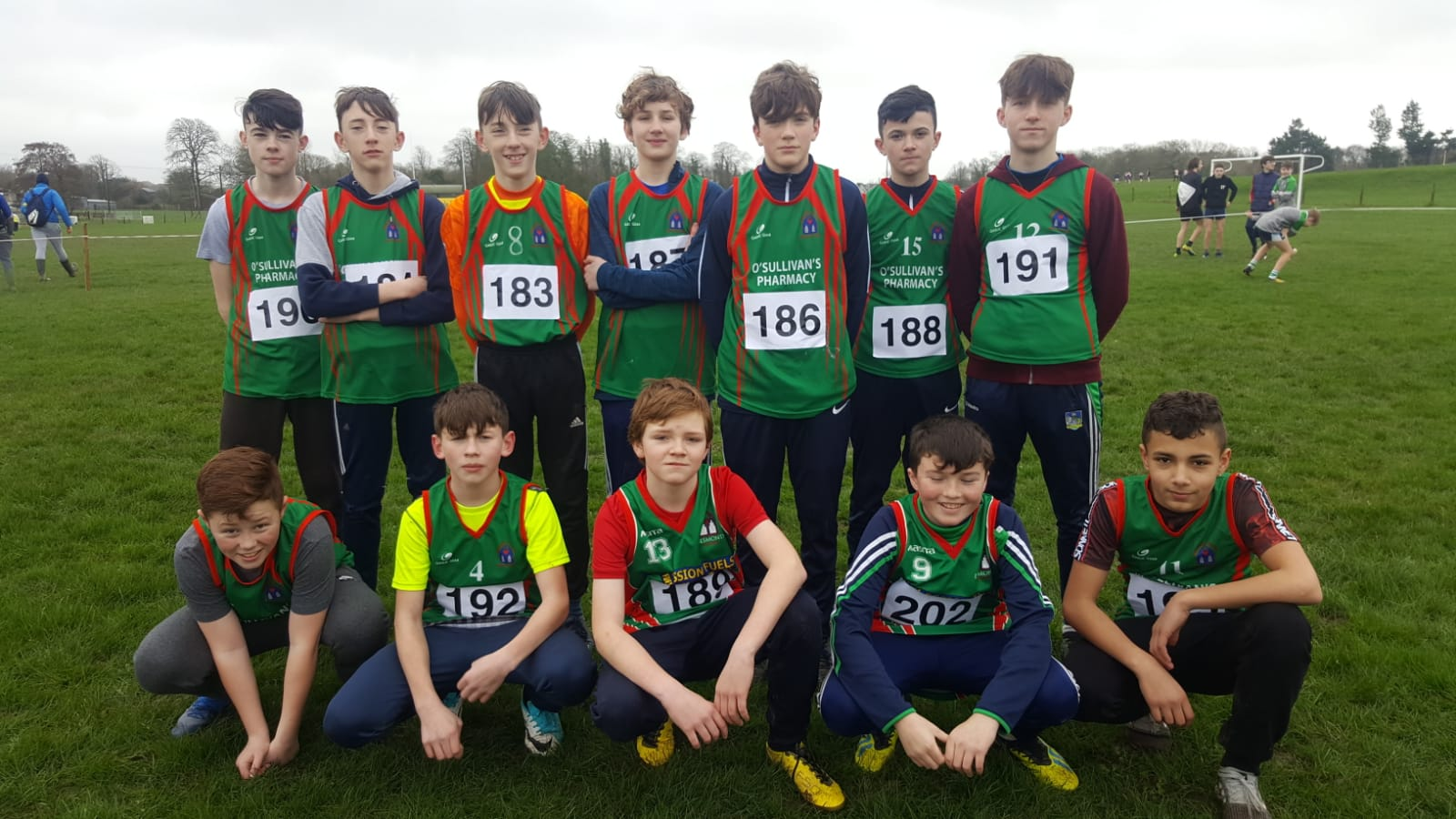 Desmond College students who participated in the North Munster Cross Country