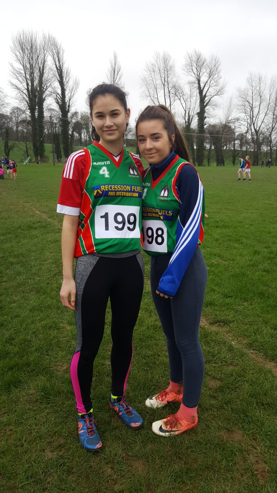 Orla Mullane and Jody Duffy participated who in the North Munster Cross Country