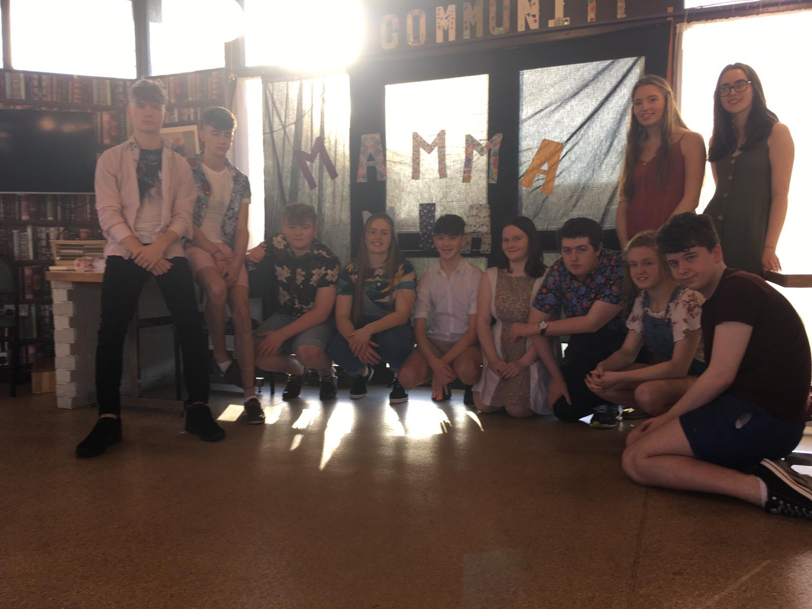 Some of the cast of 'Mamma Mia' performing in the Brothers of Charity Bawnmore