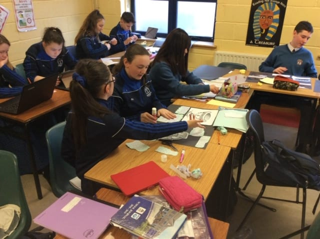 Ms O'Mahony's History class producing displays on Early Christian Ireland