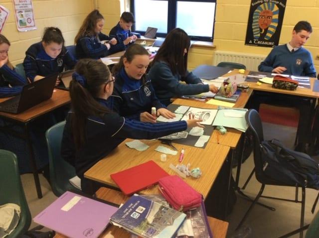Ms O'Mahony's History class producing displays on Early Christian Ireland