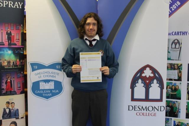 Desmond College JCPA Certificate Presentation