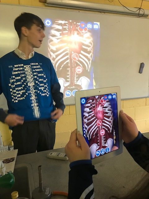 Students get an insight into the working of internal organs using adaptive technology for the iPads