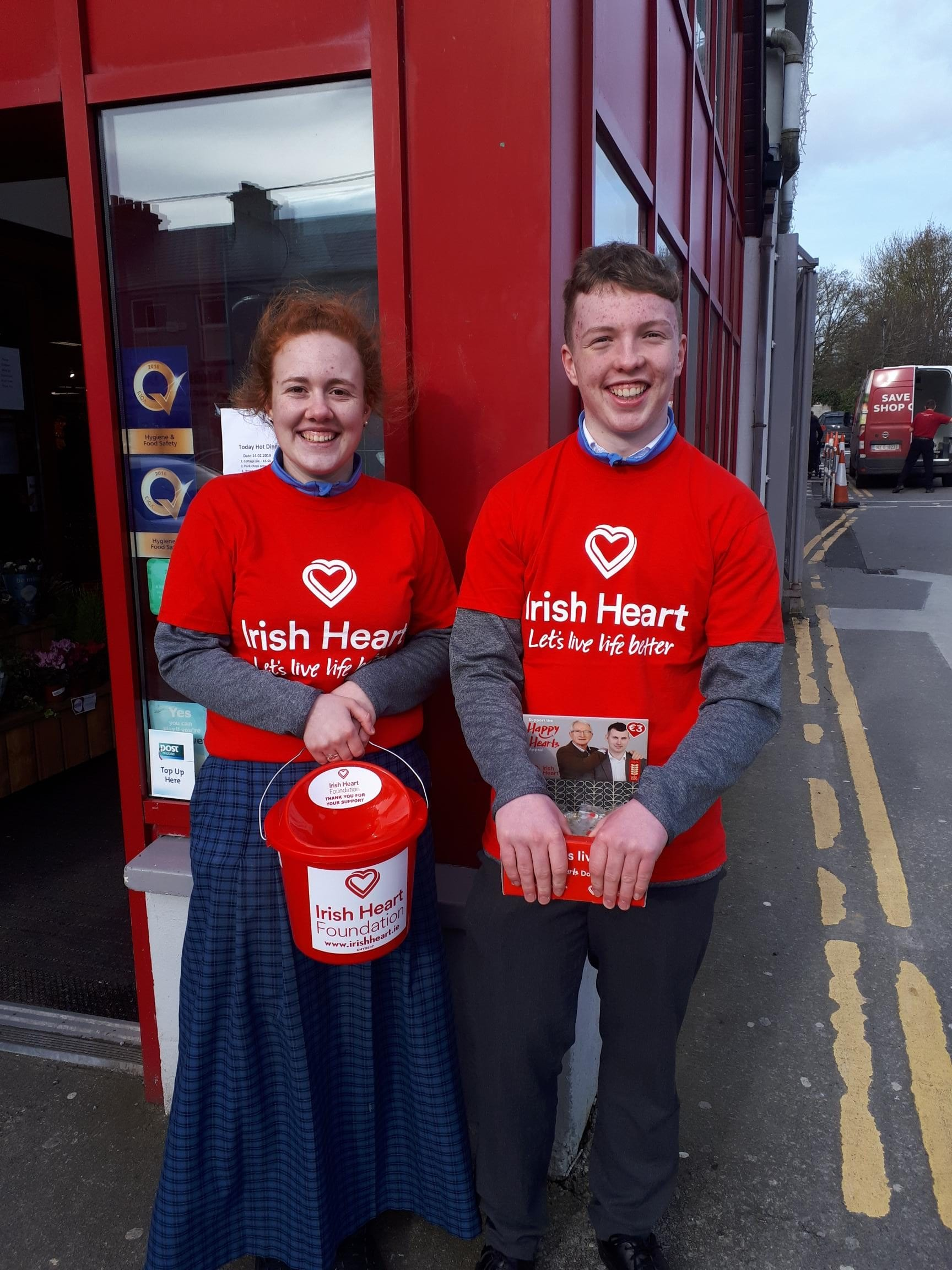 Victoria Brouder and Cormac Browne fundraising for the Irish Heart Foundation