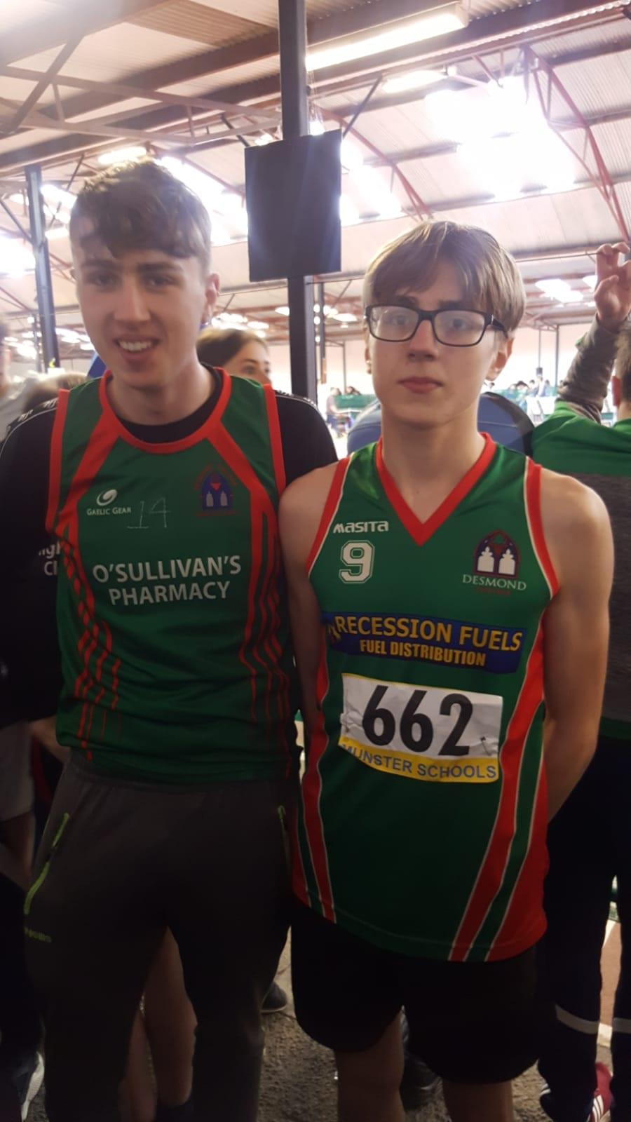 Tiernan Mason and Cian Mason at the Munster Athletic School Games 2019