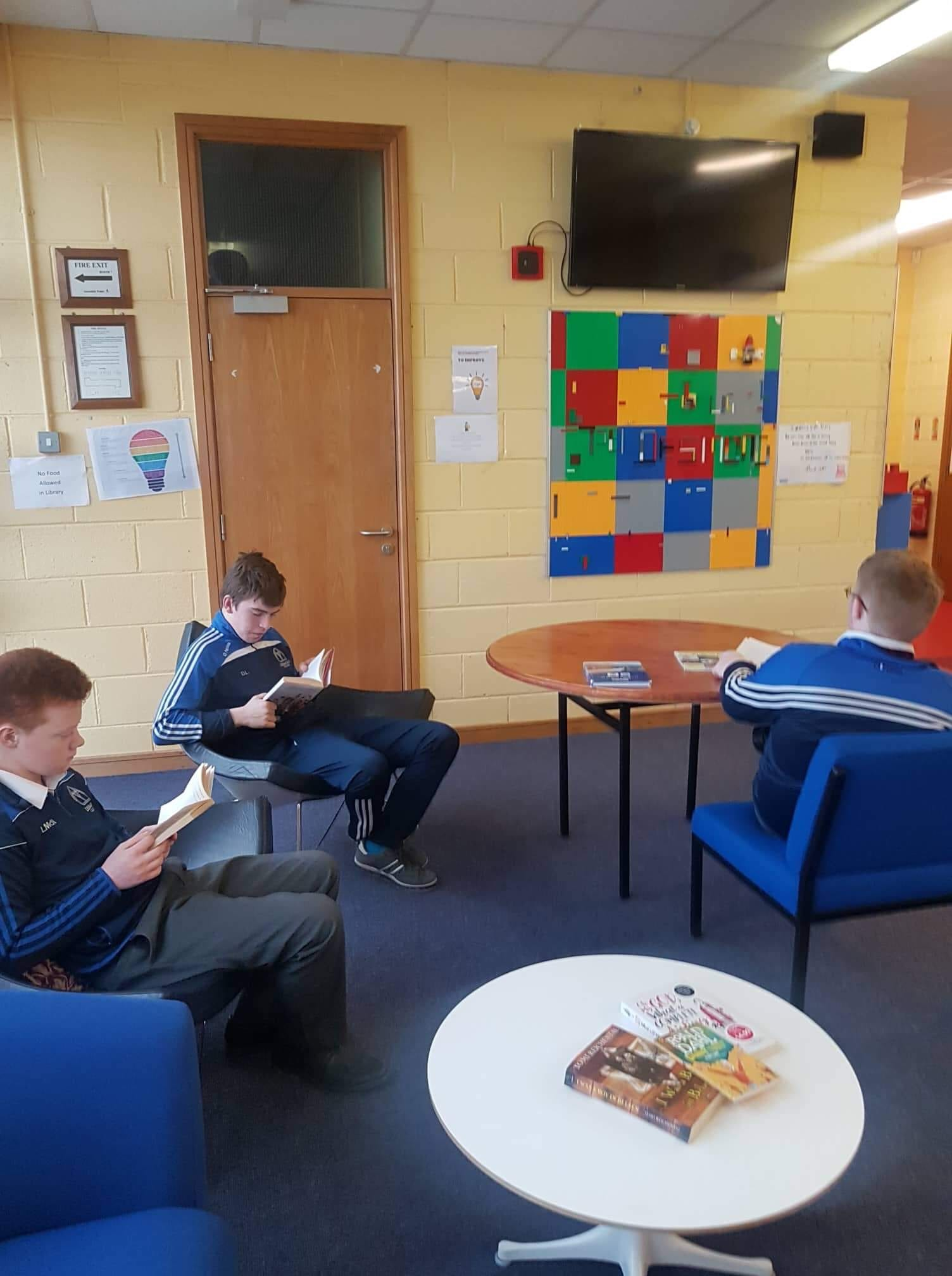 Students from Rang Grandin visiting the School Library as part of World Book Day 2019