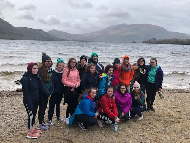 Some of Desmond College Transition Year enjoying the scenery in Killarney during their adventure trip