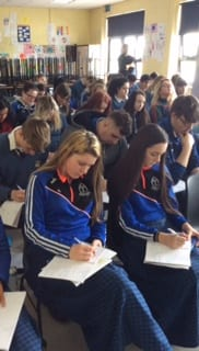 Desmond College enjoying the 'Rayse the Game' study skills programme