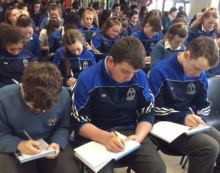 2nd and 3rd Year students enjoying the 'Rayse the Game' study skills programme