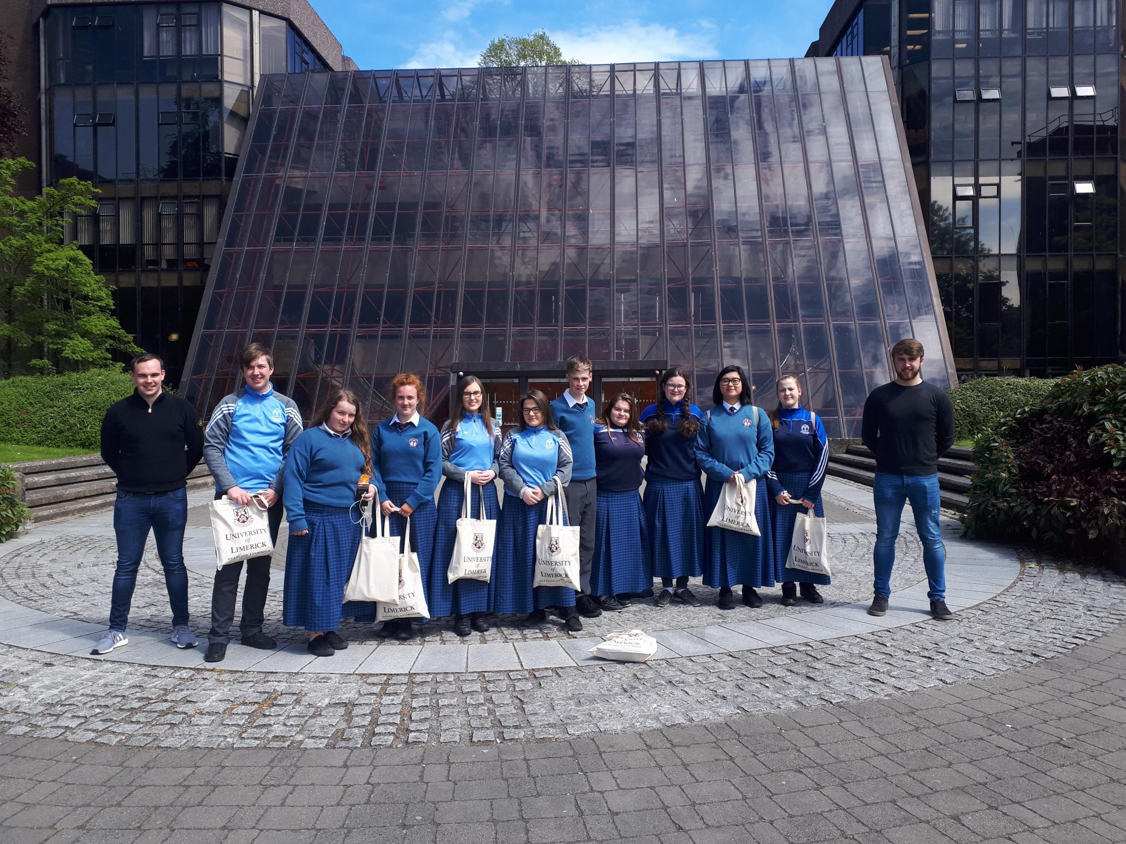 A number of Desmond College Transition Year students who took part in the Teacher Taster Programme at the University of Limerick