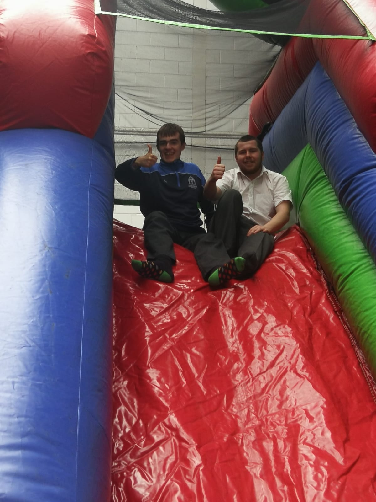 Alan Wallace and Shane Scanlon on the obstacle course