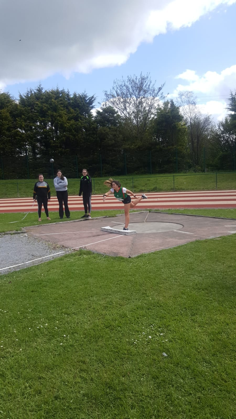 Ciara O'Connor taking part in the 110m hurdles at the North Munster Athletics Championships