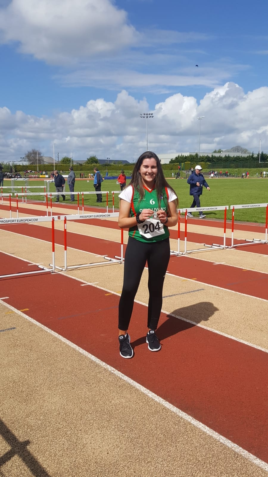 Ciara O'Connor with her Bronze medal at the North Munster Athletics Championships
