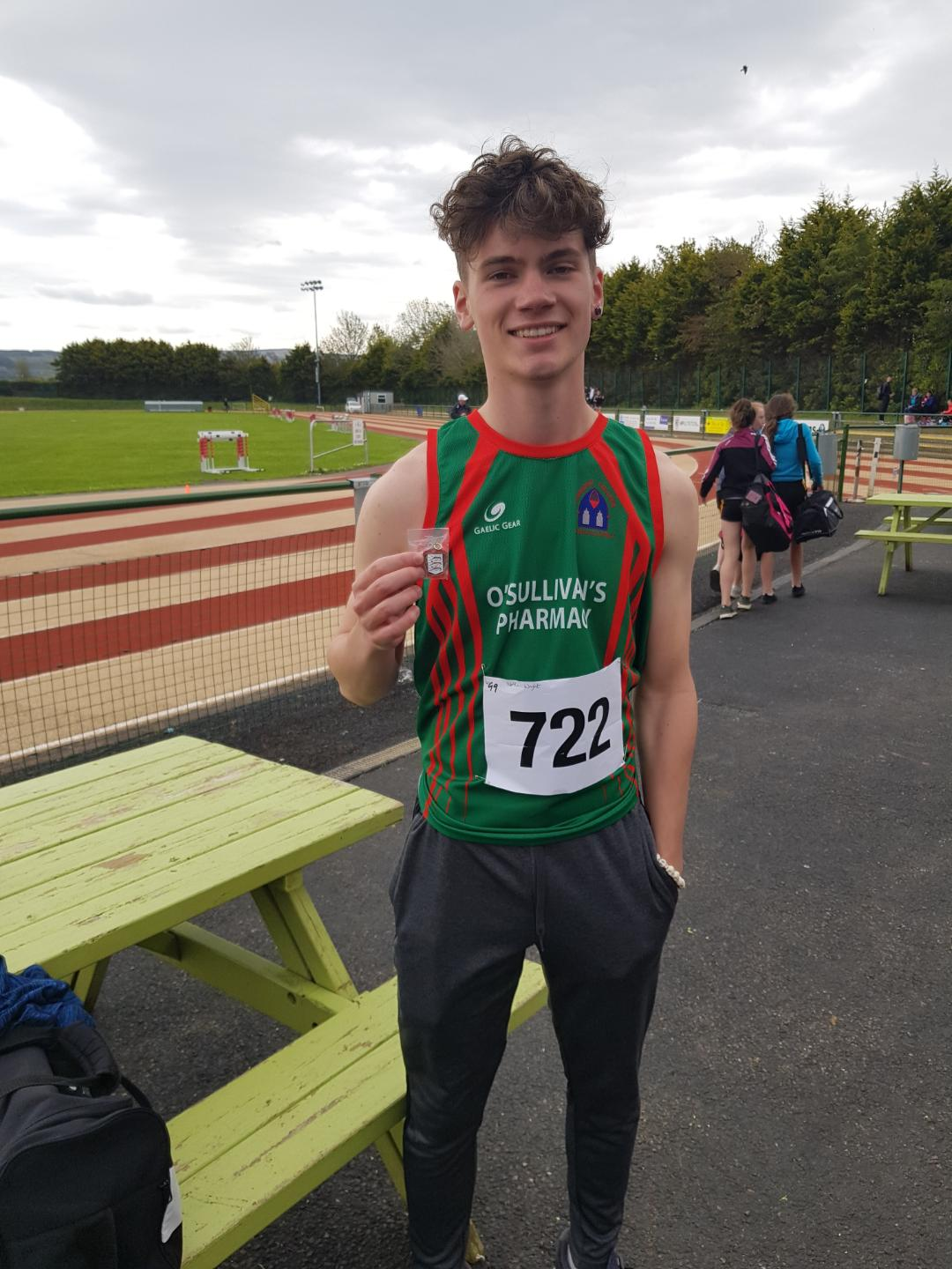 Nathan Wright winning a bronze in 400m at the North Munster Athletics Championships