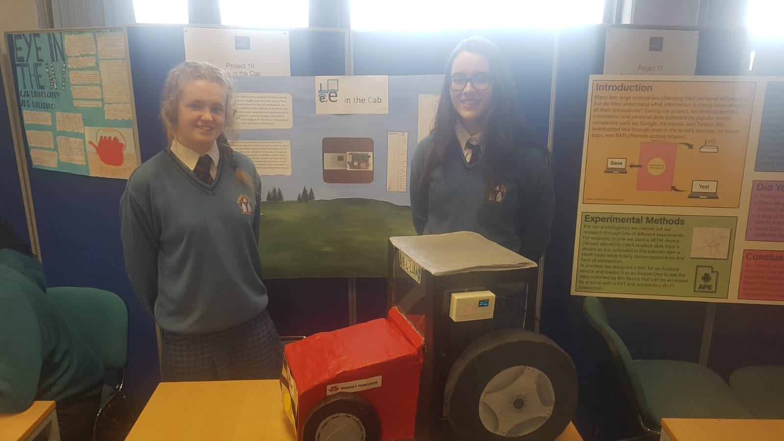Kayla McMahon and Fiona Kelly designed a device 'Eye in the Cab'