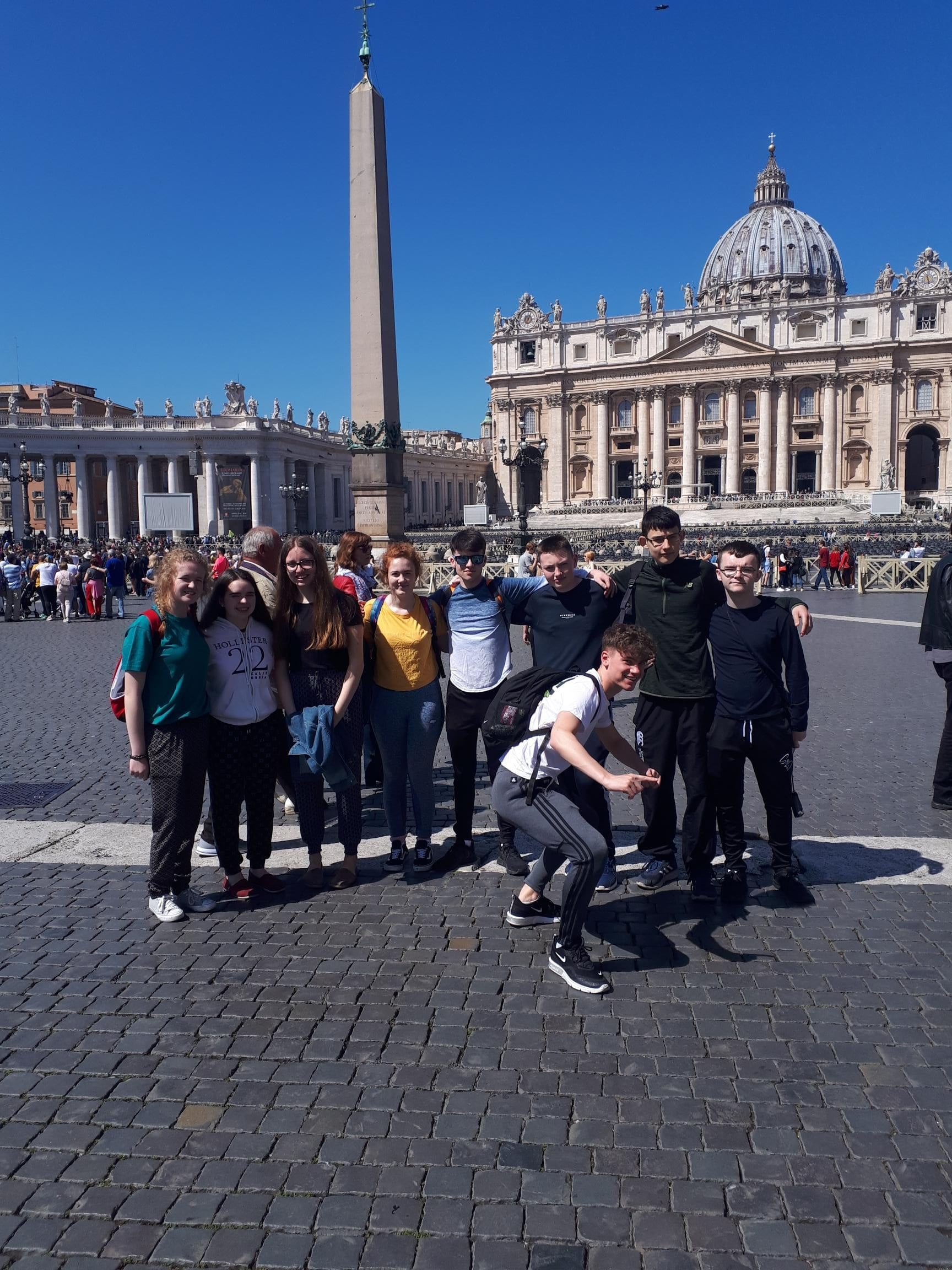 Our Transition Year Students on School Tour in Rome