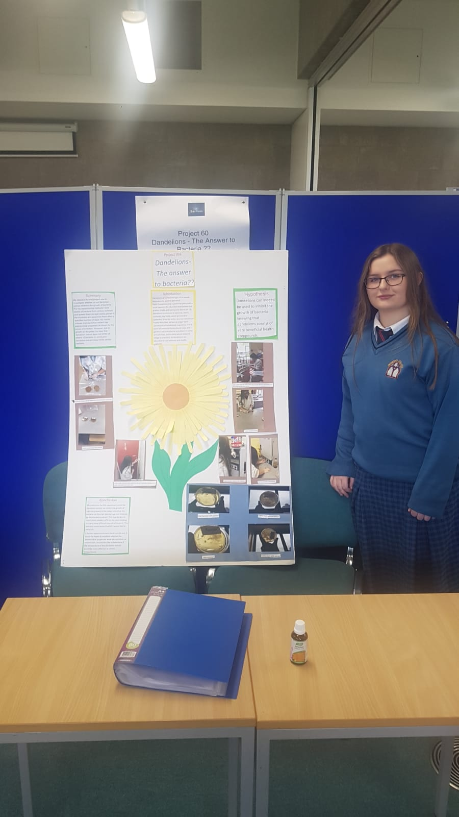 Sarah Barrett completed a project 'Dandelions – The answer to Bacteria??'