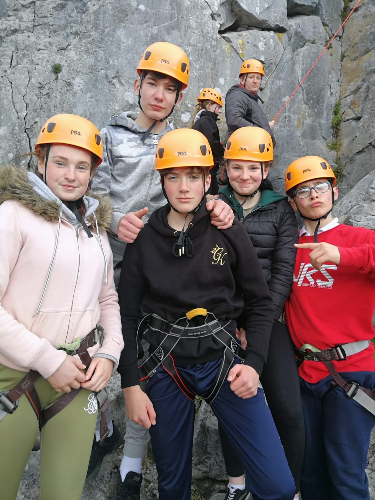 Some of our First Year students about to go rockclimbing in the Burren