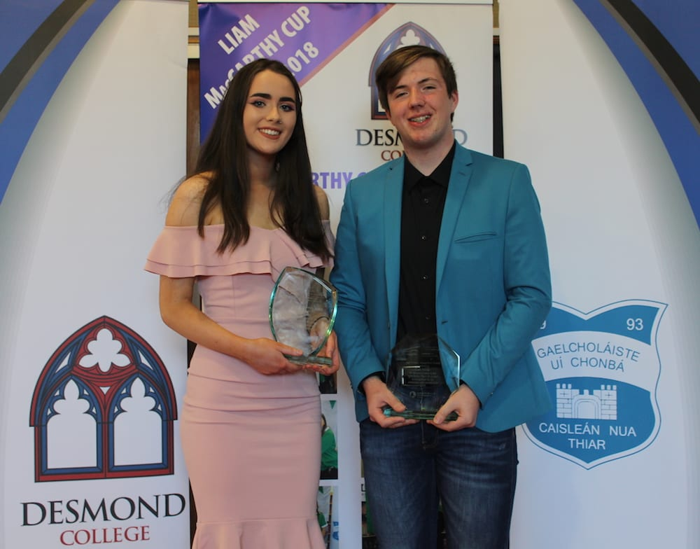 Fiona Kelly and Cian Nolan receiving the Age Friendly Award