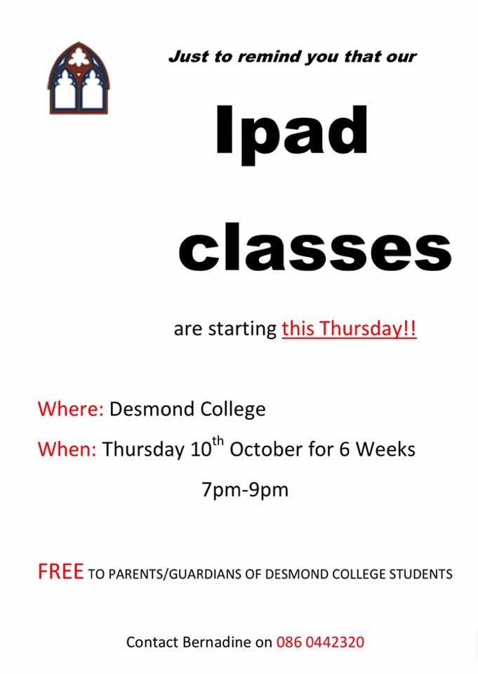 2019 : iPad training classes