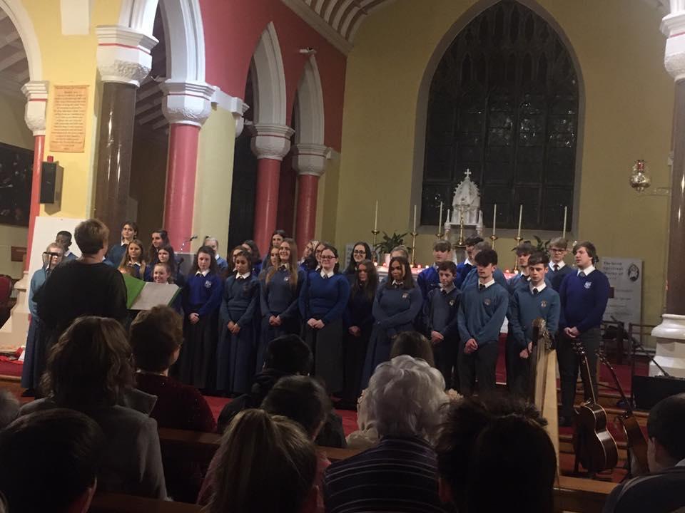 6th December 2019: Desmond College choir singing at the Lions Club Christmas Carol Service