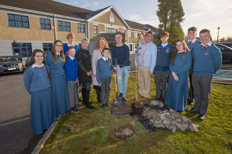 December 2019: Tree Planting Ceremony at Desmond College to support the environment