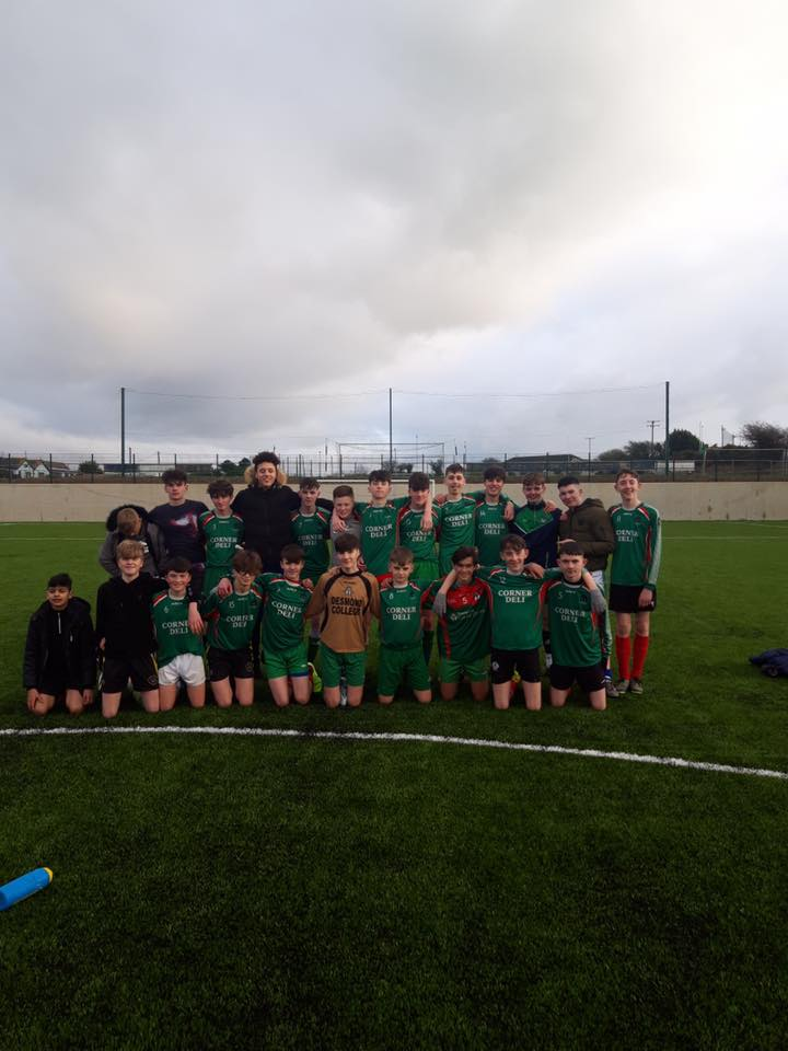 January 2020 - the desmond college U15 team win to head to the Munster B Final