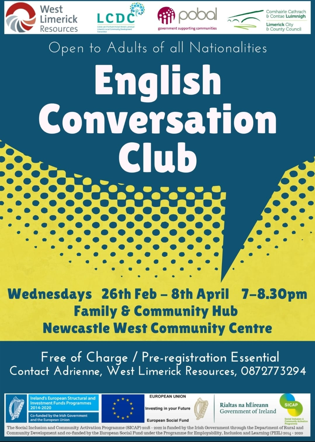 English Conversation Club available at West Limerick Resources