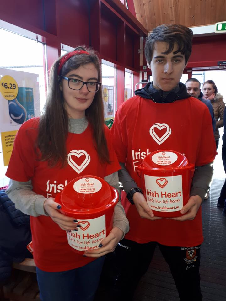 Transition Year students collecting for Irish Heart Foundation Feb 2020